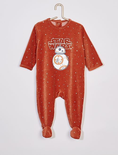 Pyjama velours 'Star Wars'                             marron