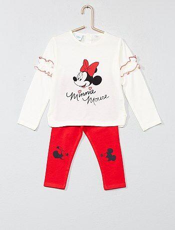 Fille 0-36 mois - Pyjama volanté 'Minnie' - Kiabi