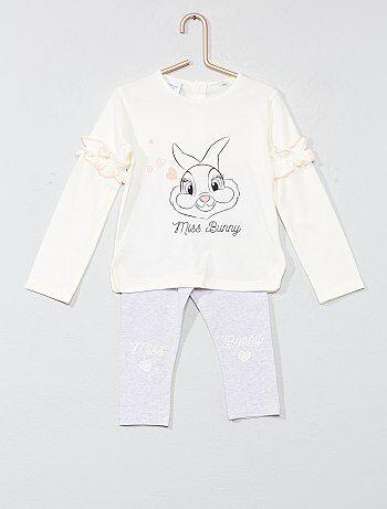 Fille 0-36 mois - Pyjama volanté 'Miss Bunny' - Kiabi