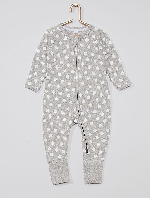 Pyjama zippé 'DIM'                                         gris