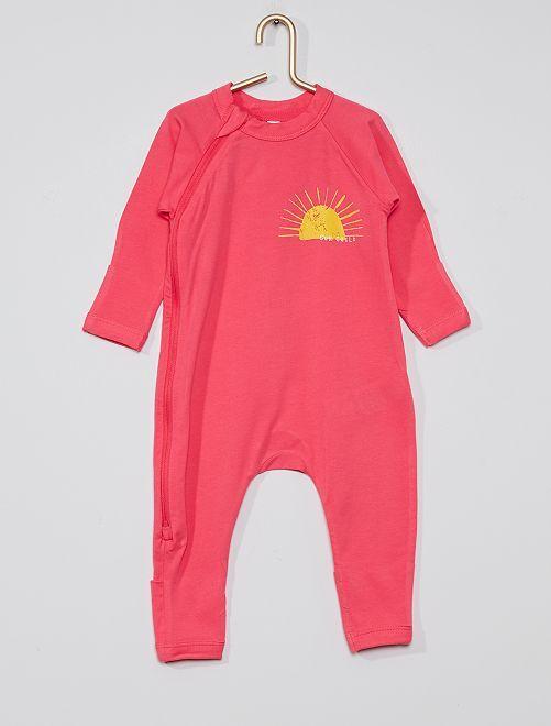 Pyjama zippé 'DIM'                             rose fuchsia