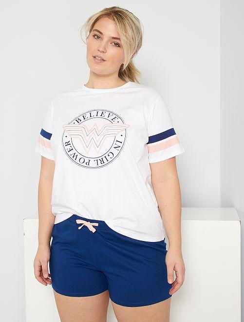 Pyjashort 'Wonder Woman'                             blanc
