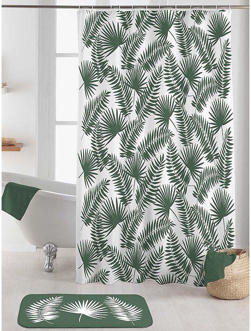 Rideau douche 180 x 200 cm                     blanc/vert