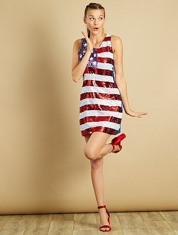 Robe à sequins motif drapeau américain - Kiabi