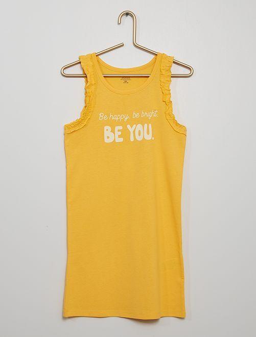 Robe 'Be happy, be bright, be you'                                                     jaune