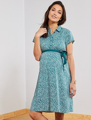 Maternité - Robe chemise de maternité - Kiabi 2d0dc7bb40d