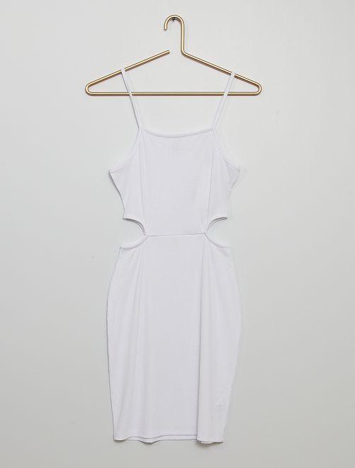Robe côtelée                                                                                         blanc