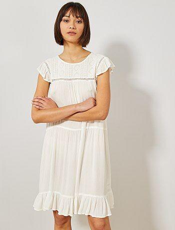 305b93996f5 Robe blanche femme - robe blanche dentelle femme