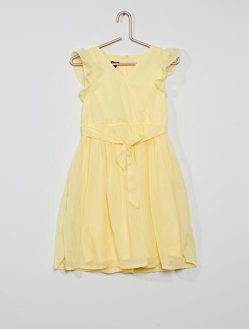 Robe de cérémonie                                                                                         jaune doux