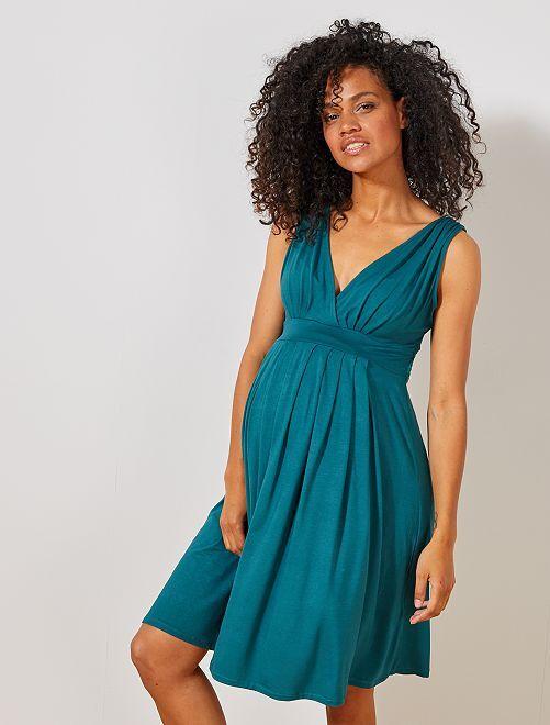 Robe de maternité esprit babydoll                                         vert profond