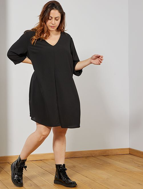 Robe droite                     noir Grande taille femme