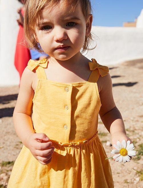 Robe en jersey                             jaune doré
