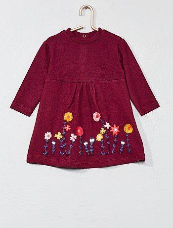 Robe en maille à fleurs - Kiabi