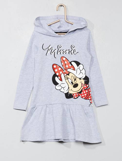 Robe 'Minnie Mouse'                     gris chiné Fille
