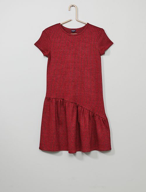 Robe 'léopard'                     rouge