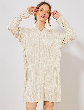 Pas Chères Et ModeKiabi Robes Robe Femme Pull WHIY2ED9