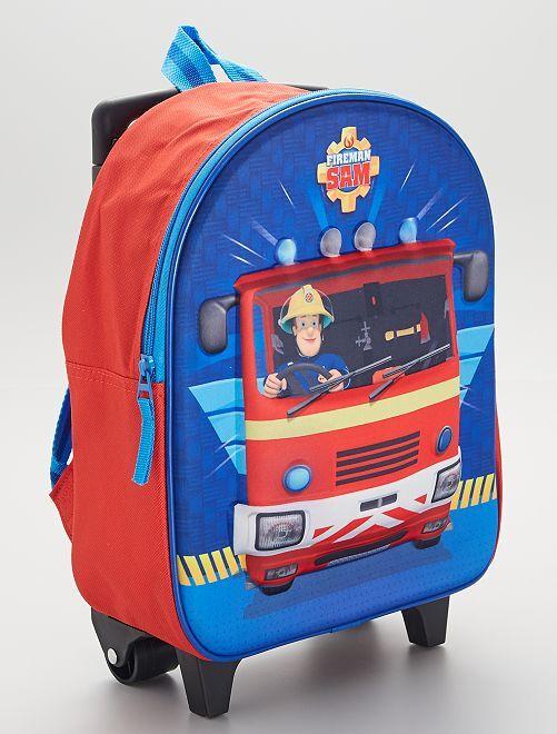 Sac à dos à roulettes 'Sam le pompier'                             rouge/bleu