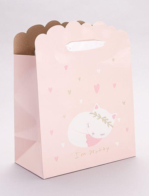 Sac cadeau pour bébé                                                                                         rose
