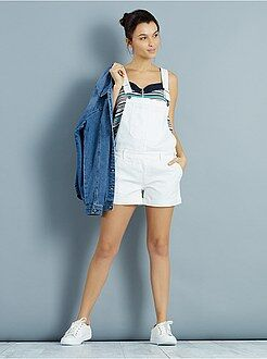 Short, pantacourt - Salopette short en denim