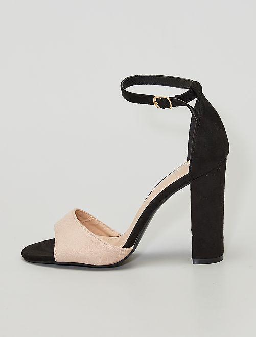 Sandales à talon                             beige/noir