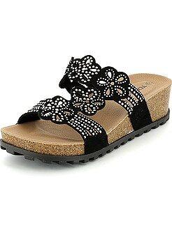 Sandales compensées avec strass - Kiabi