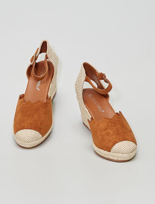 Sandales compensées                                         camel