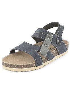 Sandales confort en suédine - Kiabi