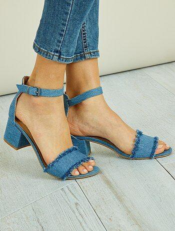 Sandales en style denim - Kiabi