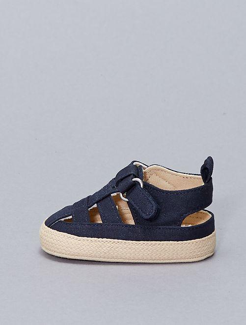 Sandales façon espadrilles                     bleu marine
