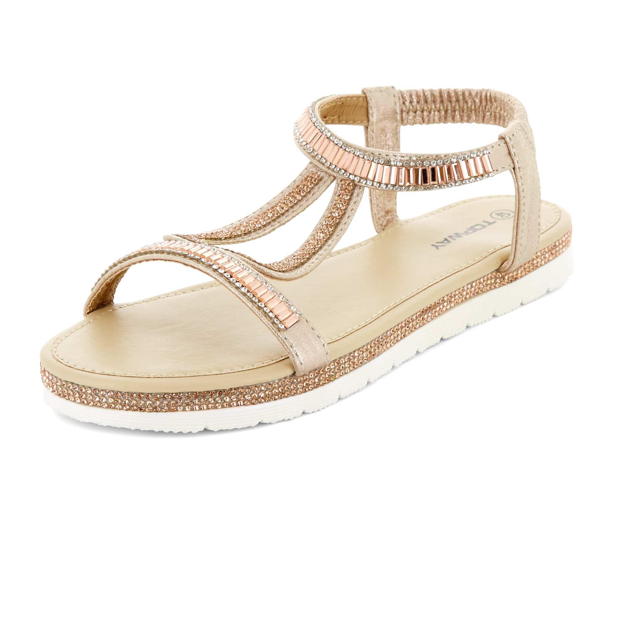 Sandale Stxhcbqrdo Plate Chaussure Lescahiersdalter Kiabi Femme 35jALSqc4R