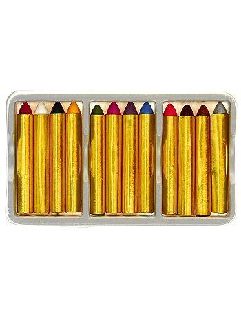 Set de 12 crayons gras de maquillage - Kiabi