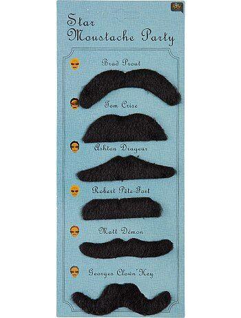 Set de 6 moustaches - Kiabi