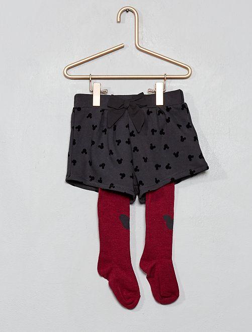 Short + collants 'Minnie'                             anthracite