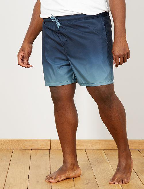 short de bain d grad grande taille homme bleu kiabi 15 00. Black Bedroom Furniture Sets. Home Design Ideas