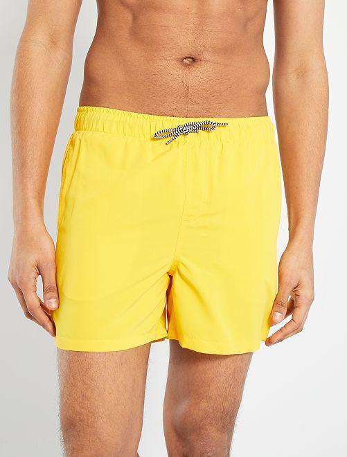 Short de bain éco-conçu                                                                             jaune