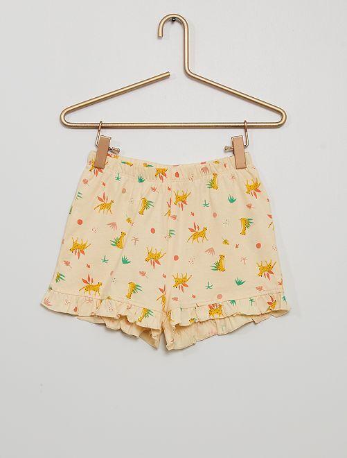Short de pyjama fluide                                         beige