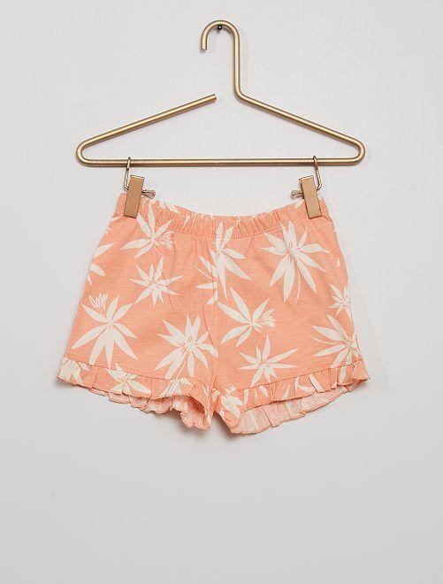 Short de pyjama fluide                                         rose