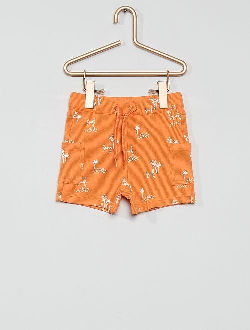 Short éco-conçu                                                     imprimé orange