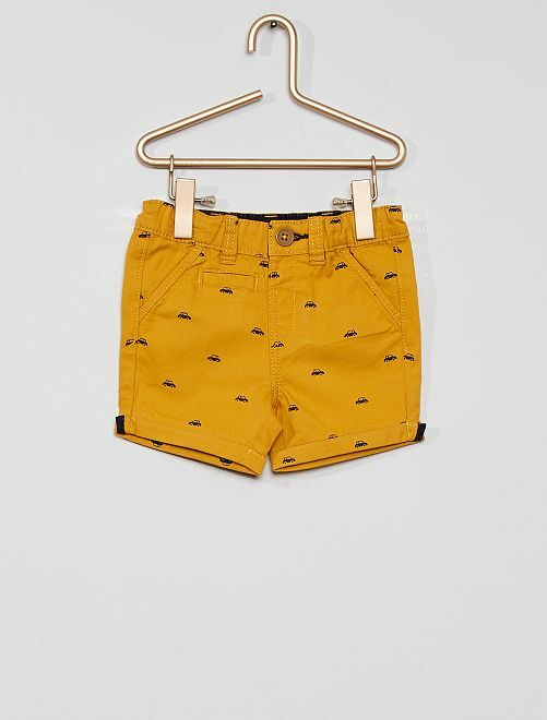 Short éco-conçu                                                                                                                             jaune