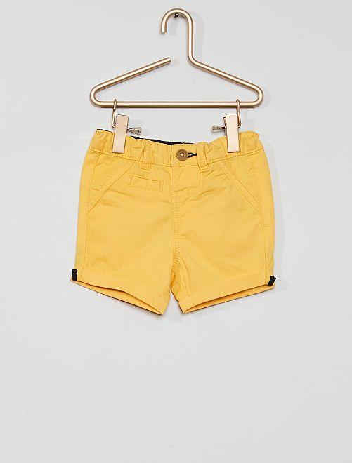 Short éco-conçu                                                                                                                             jaune doré