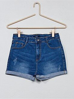 Fille 10-18 ans - Short en jean délavé - Kiabi