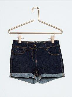 Short, pantacourt - Short en jean stretch