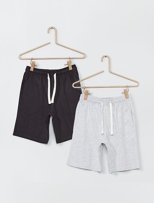 Short en jersey                             anthracite/gris clair