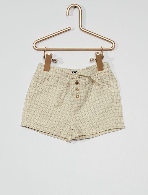Short en lin éco-conçu                                                                                         blanc