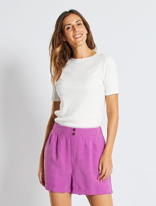 Short en lyocell                                                                 violet