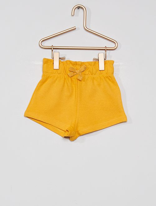 Short en molleton éco-conçu                                                     jaune d'or