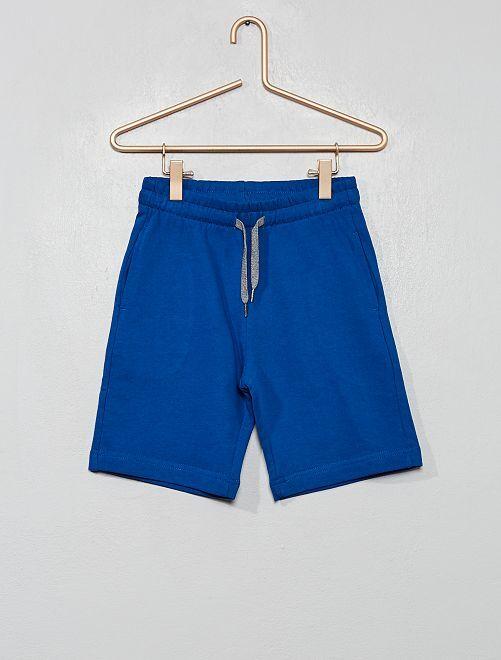Short en molleton léger                                                                             bleu