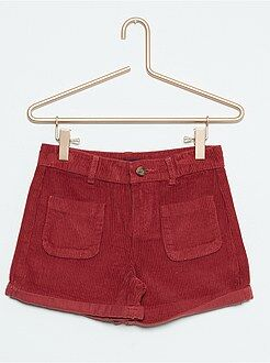 Short, pantacourt - Short en velours taille haute