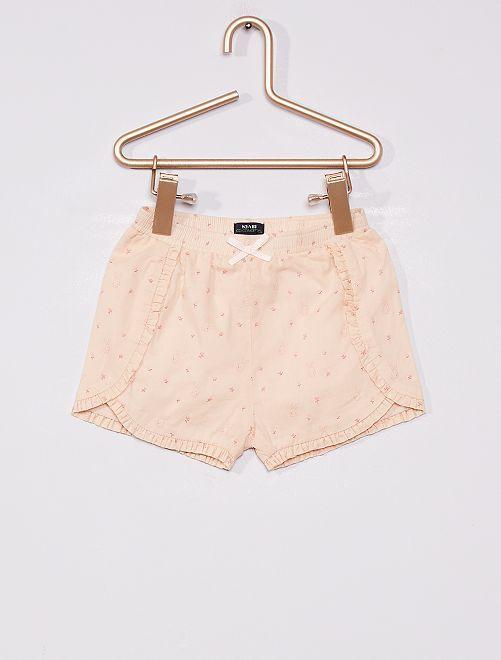 Short en voile de coton                             rose