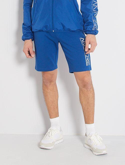 Short sportswear molletonné                                         bleu